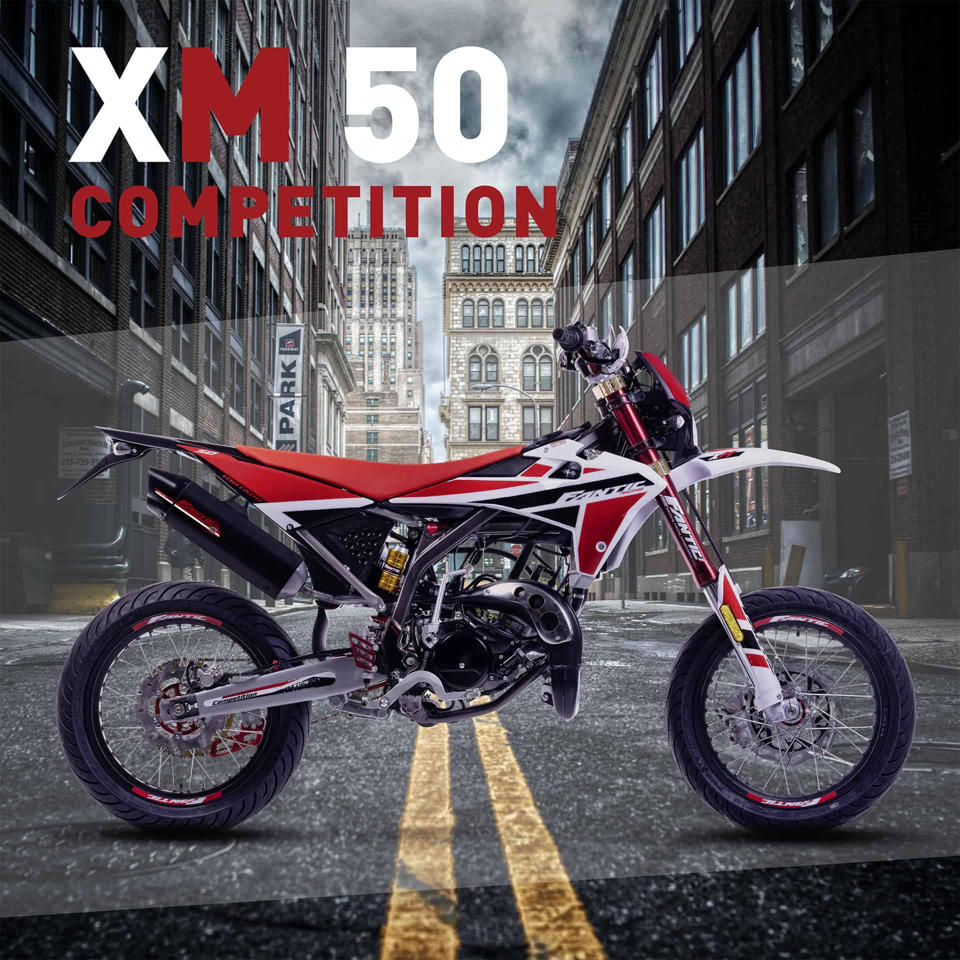Fantic 2021 mopot mallisto, xm 50 competition motard.