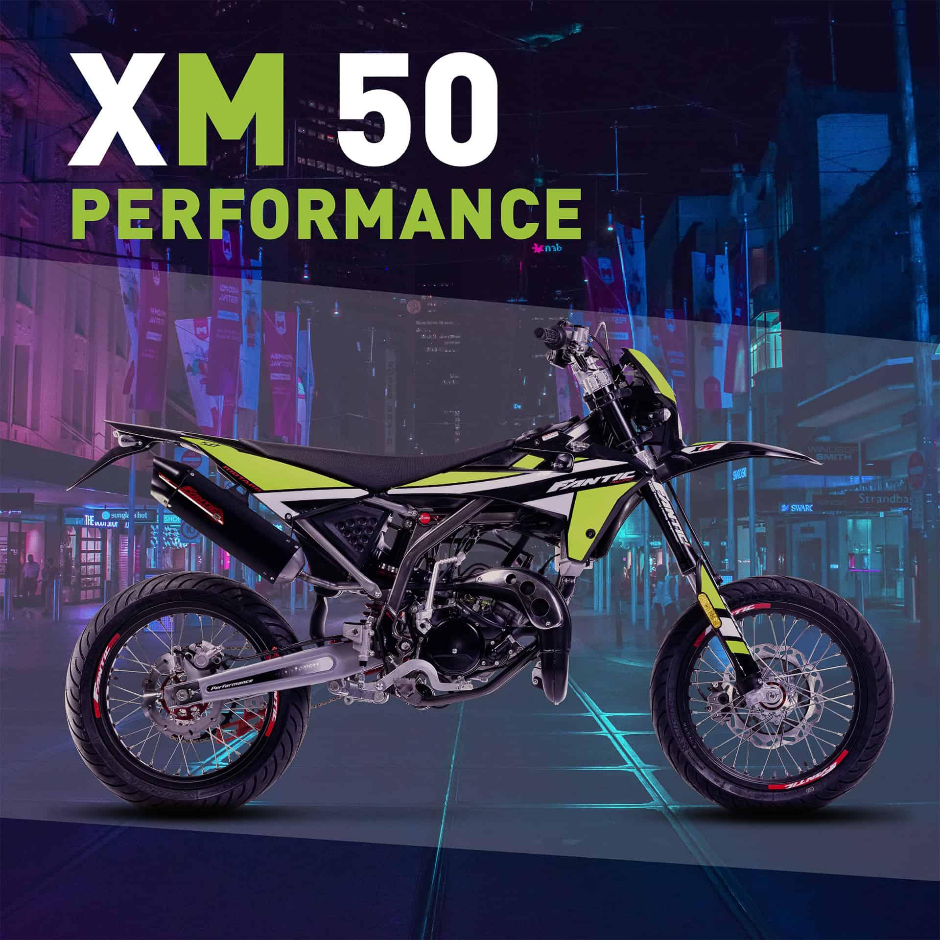 Fantic mopojen Motard mallisto 2021, xm 50 Performance.
